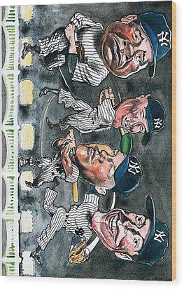 Farewell Yankee Stadium Wood Print by Robert  Myers