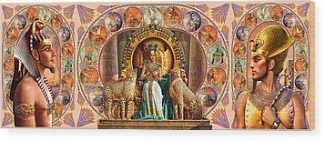 Farley Egyptian Triptych Wood Print by Andrew Farley