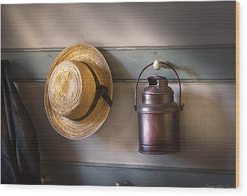 Farm - Tool - The Coat Rack Wood Print by Mike Savad
