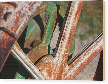 Wood Print featuring the photograph Farm Equipment 2 by Ely Arsha