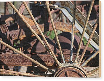 Wood Print featuring the photograph Farm Equipment 5 by Ely Arsha