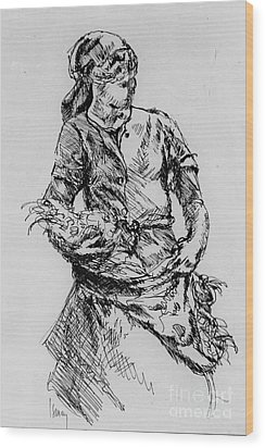 Farm Girl Wood Print by Rod Ismay