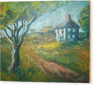 Farm In Gorham Wood Print by Joseph Sandora Jr