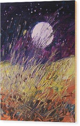 Farm Moon Wood Print by John Williams