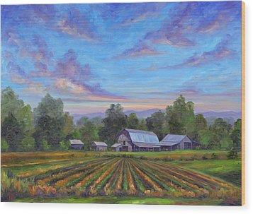 Farm On Glenn Bridge Wood Print by Jeff Pittman