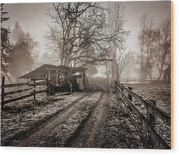 Farm Road Late Autumnl. Wood Print