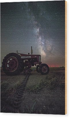 Wood Print featuring the photograph Farmall by Aaron J Groen