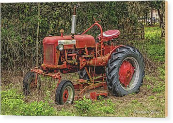 Wood Print featuring the photograph Farmall Cub by Christopher Holmes