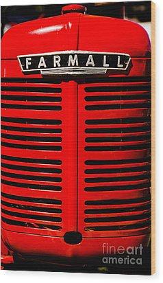 Farmall Grill Wood Print