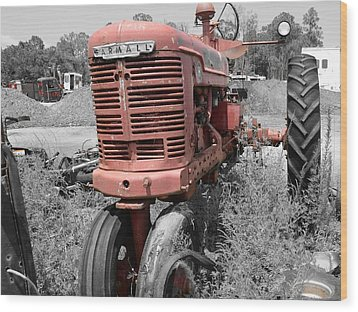 Farmall Red Wood Print