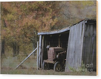 Wood Print featuring the photograph Farmall Tucked Away by Benanne Stiens