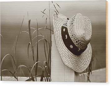 Farmers Hat Wood Print