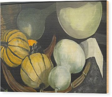Farmer's Market Gourds Wood Print