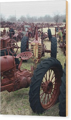Farmers Racer Wood Print by Joy Tudor