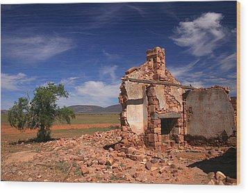 Farmhouse Cottage Ruin Flinders Ranges South Australia Wood Print