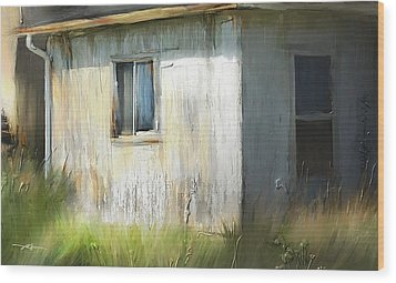Farmhouse Detail Port Albert Ontario Wood Print by Bob Salo