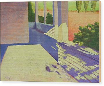 Farmhouse Porch Wood Print by Mary McInnis