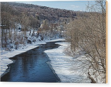 Farmington River Wood Print