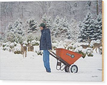 Wood Print featuring the photograph Farmlife by Angel Cher