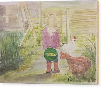 Farm's Life  Wood Print