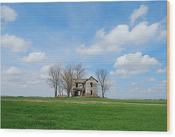 Farmstead Wood Print by Harold Clayberg