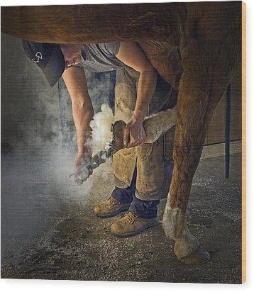 Farrier Visit - 365-46 Wood Print