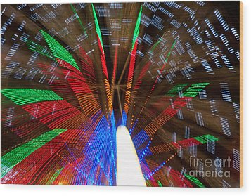 Farris Wheel Light Abstract Wood Print by James BO  Insogna