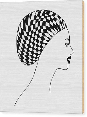 Fashion Illustration Wood Print by Frank Tschakert
