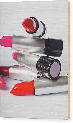 Fashion Model Lipstick Wood Print by Jorgo Photography - Wall Art Gallery