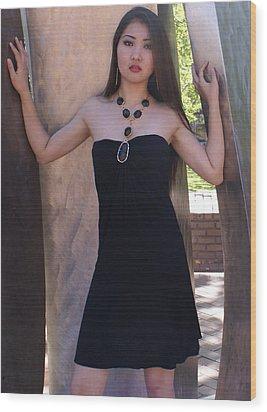 Fashion Model Wood Print by Sonja Anderson