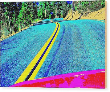 Wood Print featuring the photograph Fast Ferrari Above Tahoe by Don Struke