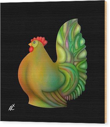 Fat Chicken By Rafi Talby  Wood Print by Rafi Talby