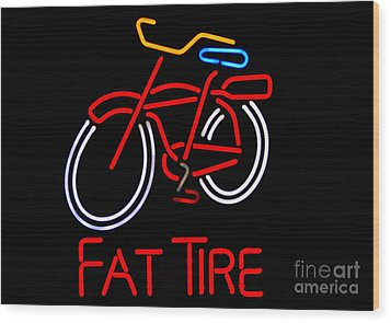 Fat Tire  Wood Print