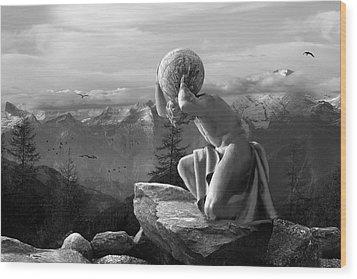 Fate Wood Print by Marc Huebner