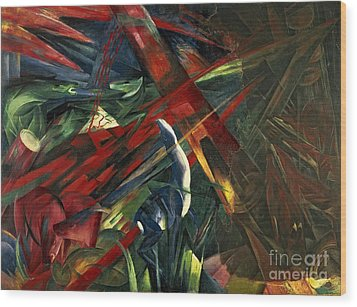 Fate Of The Animals Wood Print by Franz Marc
