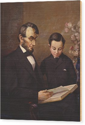 Father And Son Wood Print by Lewis A Ramsey