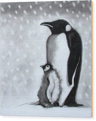 Father And Son Wood Print by Paul Powis