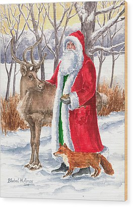 Father Christmas Wood Print