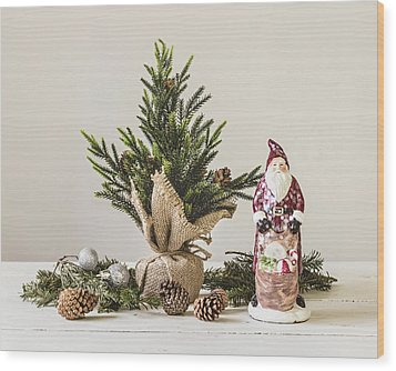 Wood Print featuring the photograph Father Christmas by Kim Hojnacki