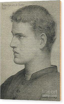 Father Damien De Veuster Wood Print by James Temple