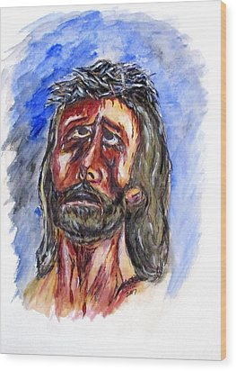 Father Forgive Them Wood Print by Clyde J Kell