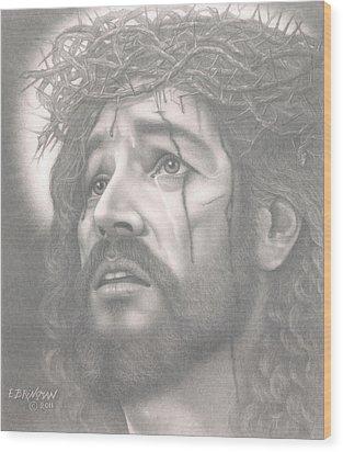 Father Forgive Them Wood Print by Eduard  Brinkman