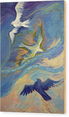 Father Son And Holy Spirit Wood Print by Jill Iversen