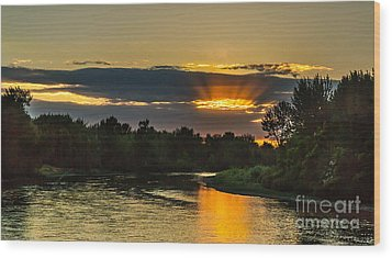 Father's Day Sunset Wood Print by Robert Bales