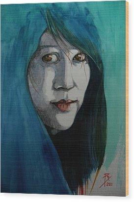 Fatima Wood Print by Ray Agius