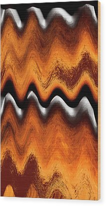 Fault Finding Wood Print by Kellice Swaggerty