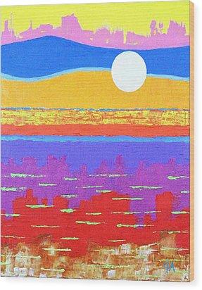 Fauvist Sunset Wood Print
