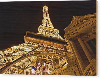 Wood Print featuring the photograph Faux Eiffel by Kim Wilson