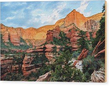 Fay Canyon 07-053 Wood Print by Scott McAllister