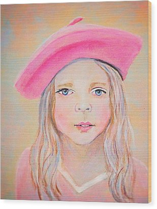 Fayanna Little French Angel Of Trust Wood Print by The Art With A Heart By Charlotte Phillips